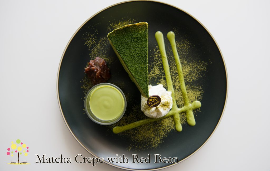 Matcha Crepe with Red Bean