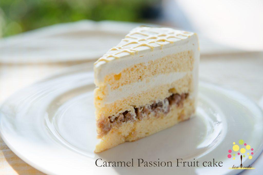 Caramel Passion Fruit Cake