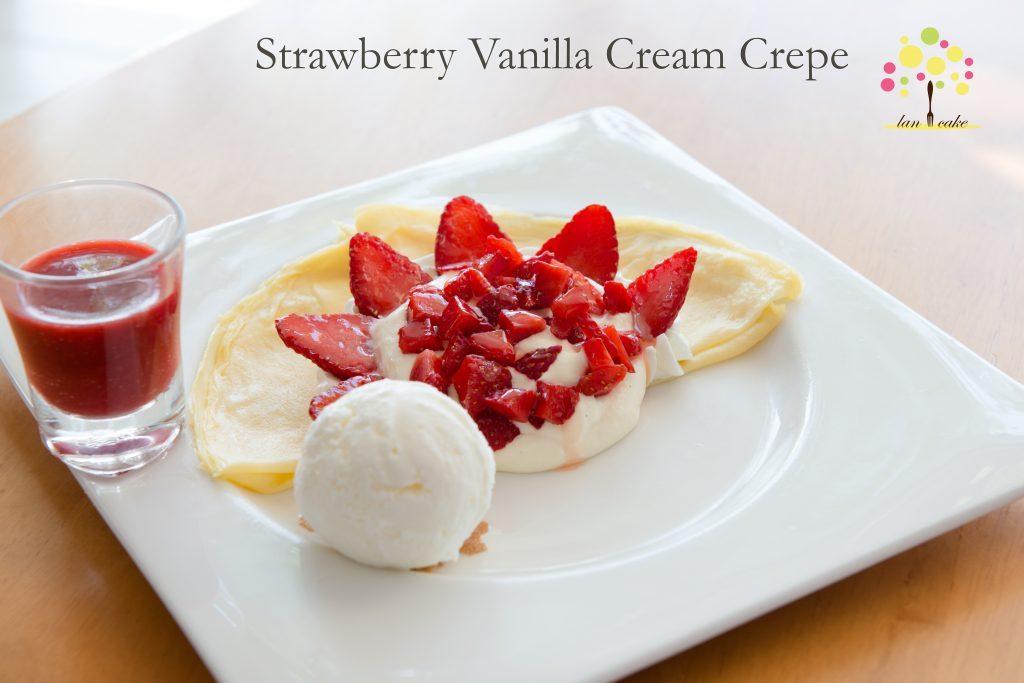 Strawberry Vanilla Cream Crepe