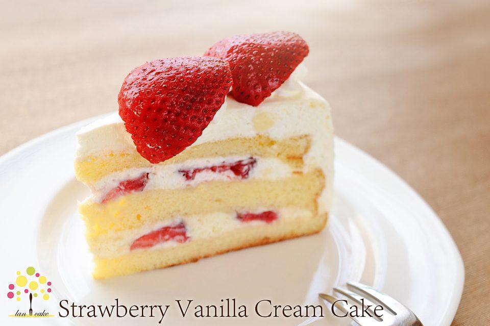 Strawberry Vanilla Cream Cake