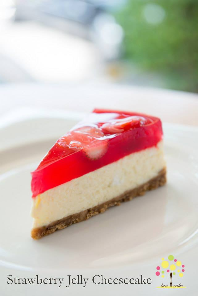Strawberry Jelly Cheese Cake